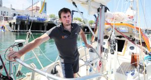 Gregor McGuckin on his yacht Hanley Energy Endurance. Photograph: Niall Carson/PA Wire