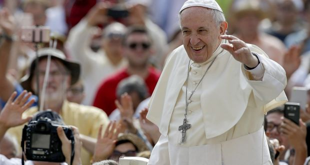 cefd644c78e Pope Francis arrives for his weekly general audience in St Peter's Square  at the Vatican on