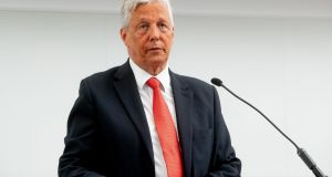 Former first minister Peter Robinson  said he did not believe the DUP was being hypocritical when it said Northern Ireland must be 'in lockstep' with Britain when it came to Brexit but not on certain social issues. Photograph: PA Wire