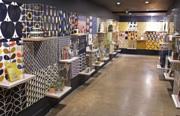 Some of the Orla Kiely on display at the London exhibition.Photograph: David M Benett/Getty Images