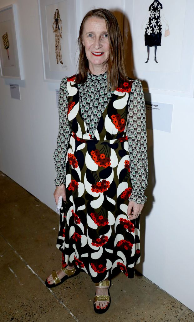 Orla Kiely at the launch of her retrospective at the Fashion and Textile Museum in London. Photograph: David M Benett/Getty Images