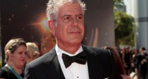 Chef and television personality Anthony Bourdain. Photograph: Jonathan Alcorn/Reuters