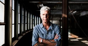 "Anthony Bourdain: ""Where are all the old chefs? Like old pigeons, you don't see them. So they're probably dead."" Photograph: Alex Welsh/The New York Times"