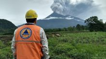 Volcano Fuego during an eruptive pulse in El Rodeo, Guatemala on June 3, 2018. Students were asked about volcano activity in the Junior Cert Geography exam. HO/AFP/Getty Images