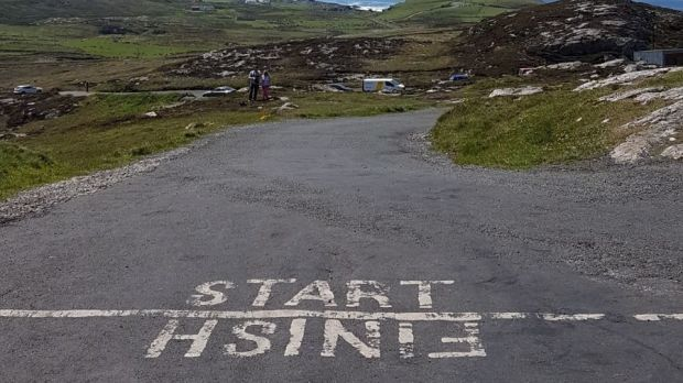 View from the start line at Malin Head. Photograph: Kieran Garry