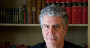 Anthony Bourdain in 2010: he cultivated a renegade style and bad-boy persona.  Photograph: Ian West/PA Wire