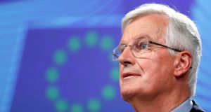 European Union's chief Brexit negotiator Michel Barnier rejected an arrangement that applies to the whole of the United Kingdom. Photograph: Francois Lenoir/Reuters