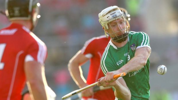 Limerick's Cian Lynch against Cork. Photograph: James Crombie/Inpho