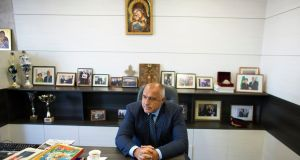 Bulgarian prime minister Boiko Borisov who halted the Danube power station project during a previous term in power. Photograph: Stoyan Nenov/Reuters