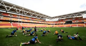 The Ireland Rugby Captain's Run at Suncorp Stadium on Friday. Photograph: Dan Sheridan/Inpho