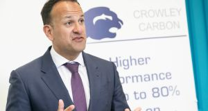 An Taoiseach Leo Varadkar speaking at the jobs announcement in Co Wicklow. Photograph: Paul Sherwood