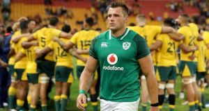 Ireland's CJ Stander looks dejected after the team's defeat to Australia at the Suncorp Stadium, Brisbane. Photograph: Dan Sheridan/Inpho