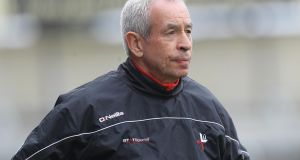 Louth manager Pete McGrath. Photograph: Lorraine O'Sullivan/Inpho