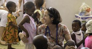 Dr Trish Scanlan works with children suffering from cancer in Dar es Salaam, Tanzania.