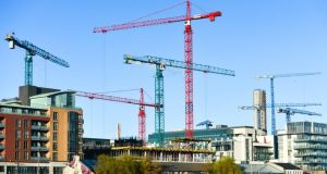 Activity in the construction sector has grown in each of the last 57 months, according to Ulster Bank. Photograph: Artur Widak/NurPhoto via Getty Images