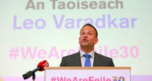 Leo Varadkar is expected to frame the plan as part of Ireland's response to Brexit. Photograph: EPA/Paul McErlane