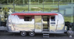 The 1964 Airstream Land Yacht Safari for sale at Victor Mee Auctions in Co Cavan. Photograph: Michael Donnelly
