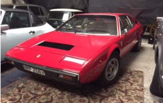 The 1979 red Ferrari 308 GT4 being auctioned in Co Cavan with a guide price of €30,000-€60,000