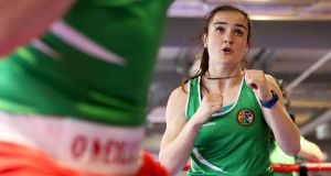 Ireland's Kellie Harrington made her exit from the European Boxing Championships in Sofia on Monday with a bronze medal. Photo: Tommy Dickson