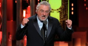 Actor Robert De Niro on stage at the Tony awards in New York. Photograph: Lucas Jackson/Reuters