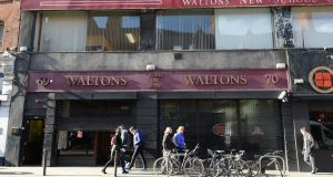 The former Waltons music shop on South Great George's Street, Dublin.Photograph: Dara Mac Dónaill