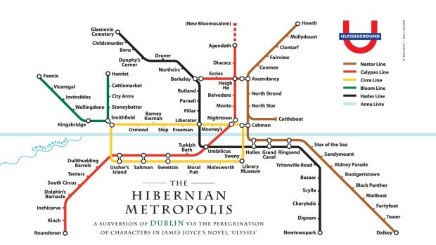 How To Outline Story Like Subway Map.Ulysses As An Underground Map From Kidney Parade To Mollydount