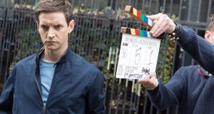 "Emmet Kirwan on the set of Dublin Oldschool: ""I keep going on about the socio-political elements, but it's a bleedin' comedy."""