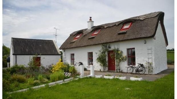Stone thatched cottage in Scarriff, Co Clare