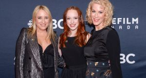 Miranda de Pencier, Amybeth McNulty and Moira Walley-Beckett at the 2018 Canadian Screen Awards in Toronto. Photograph: George Pimentel/Getty Images