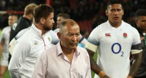 Eddie Jones:  the England head coach saw his team blow an early  24-3 lead before they  eventually  lost 42-39.  Photograph:  David Rogers/Getty Images)