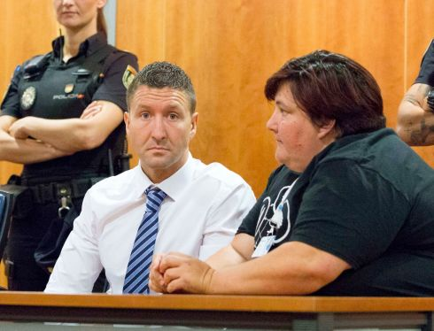 MURDER TRIAL: James Quinn, a father-of-one from Dublin, at Malaga Criminal Court where he is on trial for the murder of Gary Hutch. State prosecutors want him handed a life sentence if he is convicted. He is also on trial for illegal possession of weapons and faces a three-year prison sentence if convicted in that regard. Photograph: Solarpix