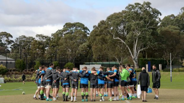 The Ireland squad during Tuesday's session at St Kevin's School in Melbourne. Photograph: Dan Sheridan/Inpho