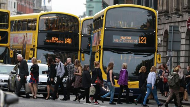 Bus Connects: overhauling 16 of Dublin's key bus corridors could halve commuting time, according to the National Transport Authority. Photograph: Nick Bradshaw