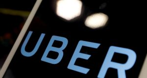 Uber is developing a systen to determine a user's walking speed and note unusual typos while inputting a ride request to determine if the user is displaying 'uncharacteristic behaviour'. Photograph: Getty