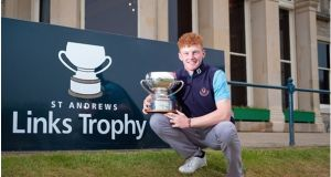 John Murphy from Kinsale becomes the third Irish winner of the St Andrews Links Trophy following his playoff victory on the Old Course at St Andrews.