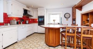 The kitchen at the Old Rectory is the same one built in the 1980s