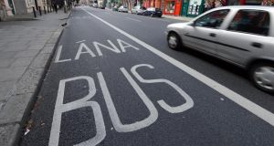 Dublin bus corridors: the city's new high-speed bus routes will affect more than 1,000 homes. Photograph: Eric Luke