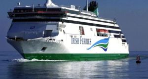 Irish Ferries has  cancelled about 6,000 bookings on the 'WB Yeats' in August. Photograph: Eric Luke