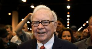 Warren Buffett: his Berkshire Hathaway's €90 million loan in 2015 paved the way for VHI to be authorised. Photograph: Rick Wilking/Reuters
