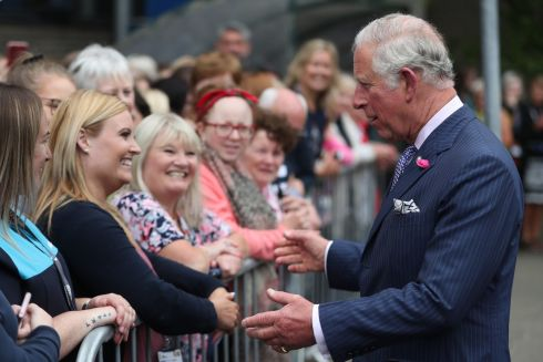 PRINCE IN ULSTER: Prince Charles meets members of the public during a walkabout as he visits Ulster University in Coleraine, Co Derry, to help celebrate its 50th anniversary. Photograph: Niall Carson/PA Wire
