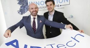 Joseph Thompson AID:Tech chief executive and Niall Dennehy chief digital officer: founded in 2014, the firm was a finalist in The Irish Times Innovation awards in 2016