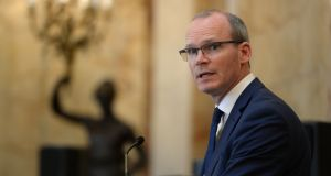 "Tánaiste Simon Coveney: ""Internal challenges of British politics are not a matter for me."" Photograph:   Cyril Byrne"