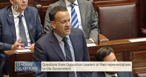 Taoiseach Leo Varadkar was unclear as to whether legislation to implement the decision of the people can even be introduced in the Dáil while the courts consider the applications. Photograph: Dáil/PA Wire