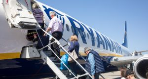 Ryanair will base three aeroplanes at London Southend. Photograph: Bloomberg
