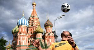 Fifa World Cup: hundreds of thousands of soccer fans will be in Russia. Photograph: Franck Fife/AFP/Getty