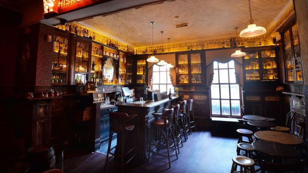 The Whiskey Palace at the Palace Bar on Dublin's Fleet Street. Photograph: Alan Betson