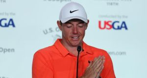 Rory McIlroy has said he will adopt a conservative approach off the tee at this week's US Open. Photograph: Warren Little/Getty