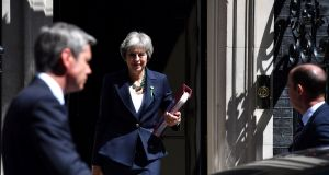 Britain's prime minister Theresa May: The crucial thing about her  agreement with Tory moderates this week is that a hard Brexit no longer appears to be a live option.  Photograph: Ben Stansall/AFP/Getty Images