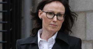 Roisin Mimnagh  is  pictured leaving the Four Courts after  settling her Circuit Civil Court action. Photograph: Collins Courts