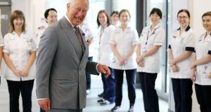 The Prince of Wales visits the Omagh Hospital and Community Care Complex in Co Tyrone.  Photograph:   Kelvin Boyes/ Press Eye.